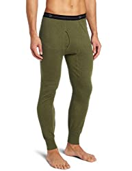 mens long thermal underpants olive green