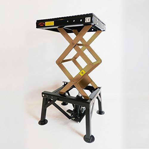 Professionelle hydraulische Scherenhebebühne für Motorräder von Dirty Pro ToolsTM, 136 kg, inklusive Fußpedal