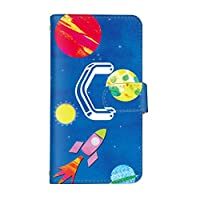 スマ通 シンプルスマホ4 707SH 国内生産 カード スマホケース 手帳型 SHARP シャープ シンプルスマホフォー 【4-C】 宇宙 q0004-v0060