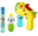 Bubble Gun Toy Set - Includes 2 in 1 Bubble n Water Gun Shooter, Spill Resistant Bubble Tumbler, 6 Oz Bubble Tube - Great Summer Bubble Value