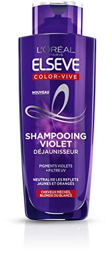 L'Oréal Paris Elseve Shampooing Violet Déjaunisseur - Pour Cheveux Blonds ou Blancs - Color-Vive - 200 ml