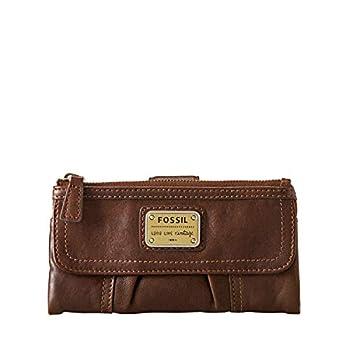 Fossil Women s Emory Leather Wallet Clutch Organizer Espresso