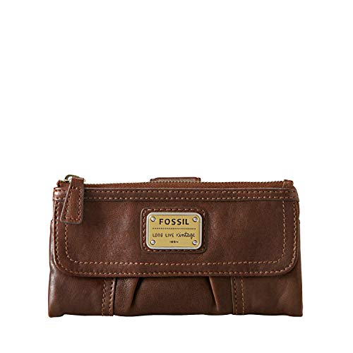 Fossil Women's Emory Leather Clutch Wallet, Espresso
