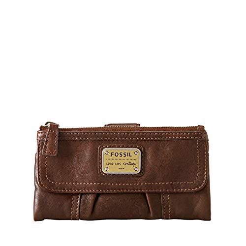 Fossil Damen Geldbörse Emory Bifold weiches Leder, Braun (Espresso), Einheitsgröße