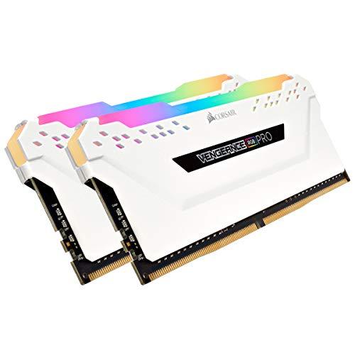 Corsair Vengeance RGB Pro 32GB (2x16GB) DDR4 3200 (PC4-25600) C16 Desktop Memory – White (CMW32GX4M2E3200C16W)