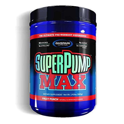 Gaspari Nutrition Super Pump Max, Fruit Punch, 1.41-Pounds by Gaspari Nutrition