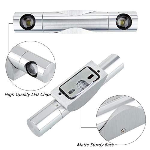 Lightess 6W Apliques de Pared Interior Lámpara LED para Iluminación del Pasillo, Escalera, Blanco Frío