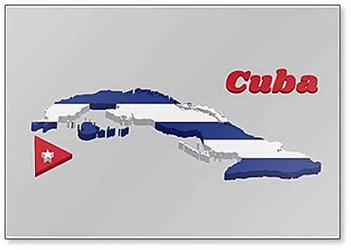 Klassischer Kühlschrankmagnet mit Landkarte & Flagge von Kuba.