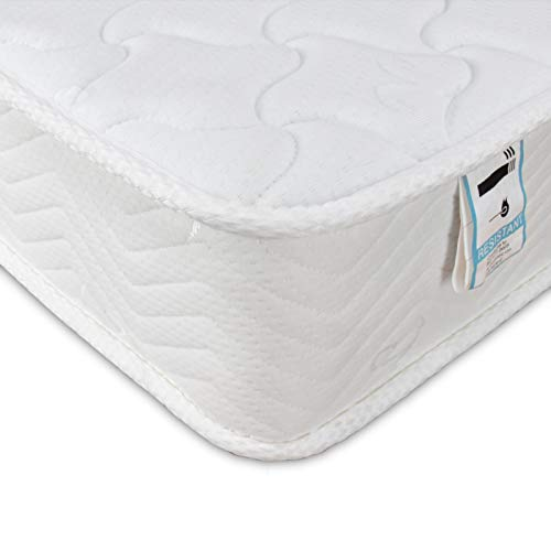 Good Nite Mattress with 5mm Memory Foam Medium Hardness 3D Breathable Knitting Fabric Fire Resistant Support System 18cm Deep (Single (90 x 190))