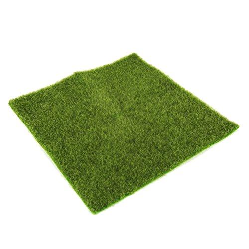 WINOMO 家庭用パティオの装飾のための人工苔苔模擬シミュレーション模擬緑の植物15×15 CM