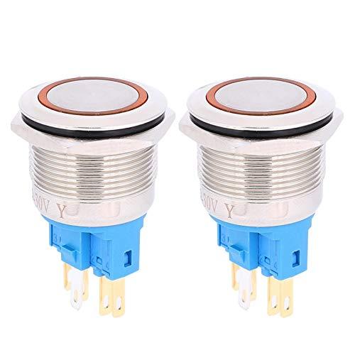 con interruptor de botón de botón de enchufe de cable Interruptor de botón de anillo de bloqueo automático para fábrica(orange, Pisa Leaning Tower Type)