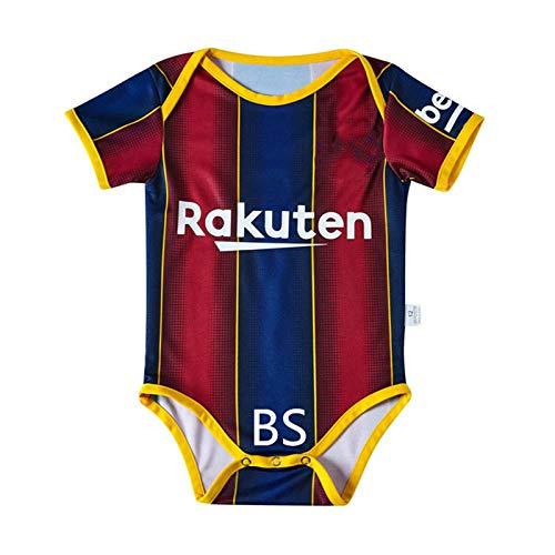 CNMD 2020 Kinder-Fußball-Uniform, Baby Body Trikots, Geschenke für Fußball-Fans geeignet für Jungen und Mädchen Barcelona-M