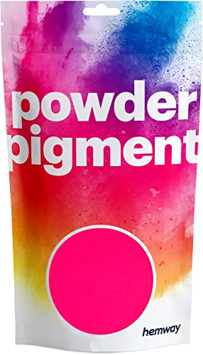 Hemway Hot Pink UV Fluorescent Pigment Powder Colour Luxury Sparkle Dye Metallic Pigments for Epoxy Resin, Polyurethane Paint and Cement - 50g
