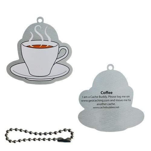 geo-versand Coffee TravelTag Trackable Travelbug Geocoin Geocaching Kaffee Tasse Pause