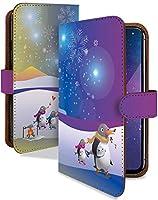 Google Pixel 4a (5G) ケース 手帳型 携帯ケース ペンギン カラフル 結晶 氷 雪国 マルチカラー おしゃれ グーグル ピクセル スマホケース pixel4a オーロラ カメラレンズ全面保護 カード収納付き t0834-01629