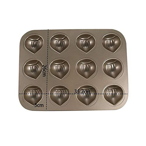 Perfect Results Premium Non-Stick Bakeware Muffin Top Baking Pan, Enjoy The Best Part Of The Muffin, Also Great For Eggs, Corn Bread and More, 12 Cavities