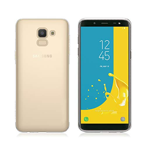 NEW'C Funda para Samsung Galaxy J6, Anti- Choques y Anti- Arañazos, Silicona TPU, HD Clara