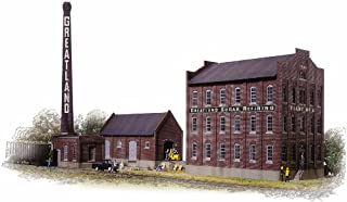 Walthers Cornerstone Series174 HO Scale Greatland Sugar Refining Includes Mill Building, Warehouse, Boilerhouse & Smokestack