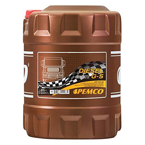 1 x 20L PEMCO G-5 UHPD 10W-40 CI-4 E7 / NKW Aceite de motor, camión, autobús y tractor VDS-3 MB 228.3 229.1