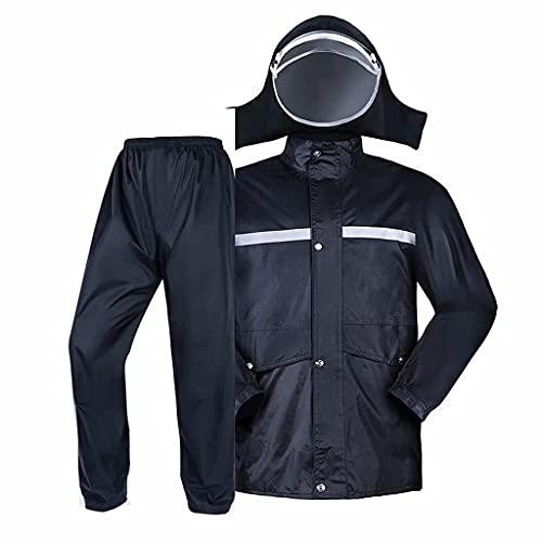 AKwwmy Engranaje de Lluvia para Hombres, Capas de Lluvia Impermeable Ligero para la Pesca de Golf de Motocicleta (Pantalones de Chaqueta), Negro, 4X-Grande Mengheyuan (Color : Black, Size : 2XLarge)