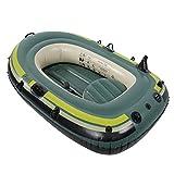ACEWD Barca Hinchable con Remos 2 Personas, Canoa Hinchable 3 Plazas,Balsa Hinchable Kayaks Hinchables Botes Inflables Barcos,2 Person a