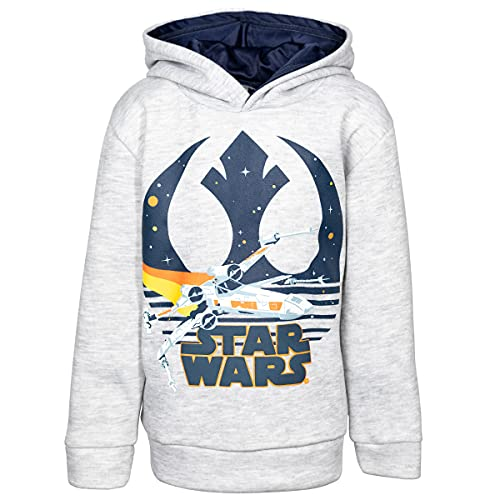 Star Wars Resistance Little Boys Fleece Pullover Hoodie with Pockets Gray 7-8