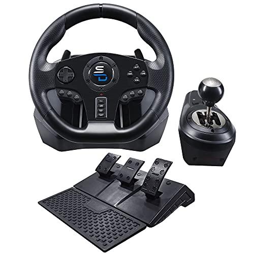 Superdrive - Rennlenkrad GS850-X Drive Pro Sport Lenkräd mit manuellem Schalthebel, 3 Pedalen, und Schaltwippen für Xbox Serie X/S, PS4, Xbox One, PC (programmierbar für alle Spiele)