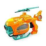 HOMAGA YuanHjyx Pistola de Burbujas Gatling con el Mismo Verano al Aire Libre helicóptero automático avión máquina Burbuja Juguete con luz y música para los niños
