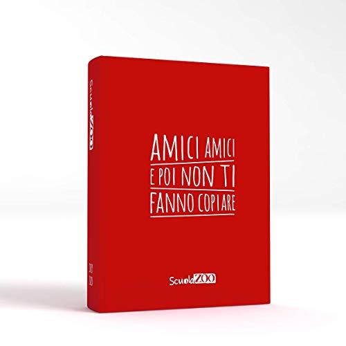 ScuolaZoo Agenda Diario scolastico 2019 2020 con meme divertentissimi e tanti adesivi, disponibile in 6 colori e 3 dimensioni (rosso, classic)