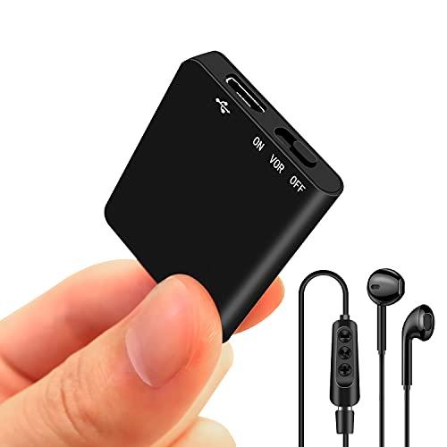 Binrrio Mini Voice Recorder Slim Audio Voice Activated Recorder Small Listening...