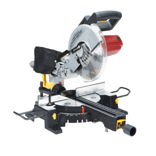 10 Inch Sliding Compound Miter Saw with 45 Degree Bevel and Dust Bag, Extension Bars...