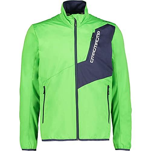 CMP Chaqueta softshell para hombre, verde claro, 58