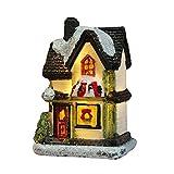 Bsopem - Casa luminosa a LED, in resina di Natale, decorazione per casa, villaggio e città, ideale per feste di Natale e inverno, decorazione da giardino