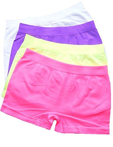 LisaModa Mädchen Panty 4er Pack Seamless Bunt Uni 128-134