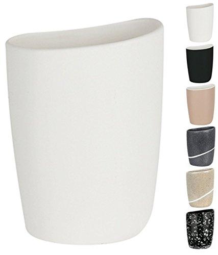 Spirella Etna Toothbrush Holder Stoneware White Height 12.5 cm x Width 11 cm