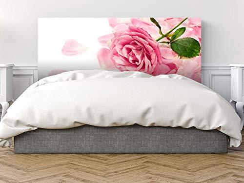 Oedim - Cabecero Cama Pegasus Flor Rosa 135x60cm | Disponible en Varias Medidas | Cabecero Ligero, Elegante, Resistente y Económico