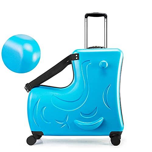 Maleta de Viaje para Montar de 20 '- Bolsa de Viaje para Equipaje de Mano portátil, Carrito Plegable Cochecito para Equipaje Puede aliviar la Fatiga del Viaje Aumenta la diversión del Viaje