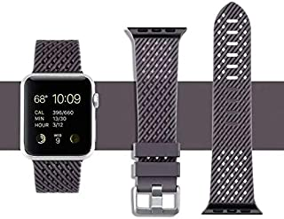 OJOS Silicon Watch Band Sport Band Compatible with Apple Watch Band 44mm 42mm, Soft Silicone Strap, Wristband for iWatch Band Series 5 4, Series 3, 2, 1 (Gray)