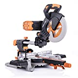 Evolution Power Tools R255SMSDB 10' Multi-Material Double Bevel Sliding Compound Miter Saw