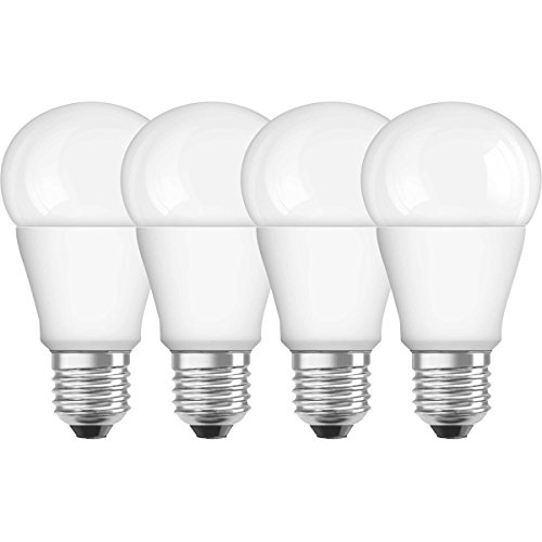 Osram LED SuperStar Classic A Lampe, in Kolbenform mit E27-Sockel, dimmbar, Ersetzt 60 Watt, Matt, Warmweiß - 2700 Kelvin, 4er-Pack