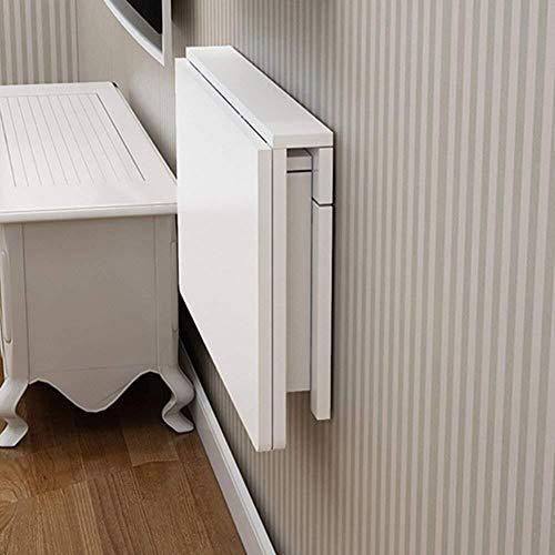 NJYT Plegable Blanca Colgar de la Pared Mesa de Comedor Escritorio de la computadora Mesa de Ahorro de Espacio Convertible Escritorio (Size : 120 * 50cm)
