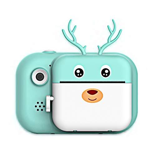 ZCFXGHH Polaroid-Kamera für Kinder, Zero-Ink Spielzeug-Kamera mit Druckpapier, bewegliche Digital Creative Print-Kamera für Jungen und Mädchen (16G Speicherkarte),Blau