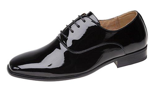Herren Abend / Uniform / Oxford Schuhe Schwarz Lackschuhe - Schwarzer Lack , EU 47