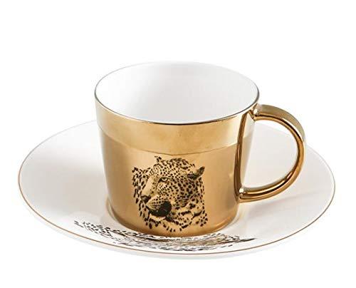 Mug Taza De Café Con Reflejo De Espejo Creative Leopard Anamorphic Cup...