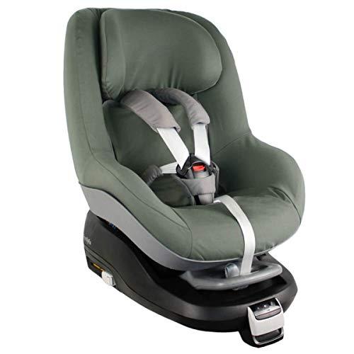 Maxi-Cosi Pearl Bezug Kindersitz von UKJE Auch für 2Way Pearl und Pearl Pro Dunkelgrün Einfarbig Schweißabsorbierend und weich für Ihr Kind Öko-Tex 100 Baumwolle Recycelbar