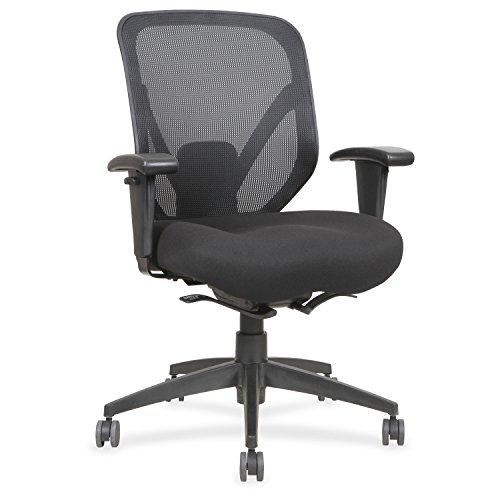 Lorell Self-Tilt Mid-Back Chair, Black