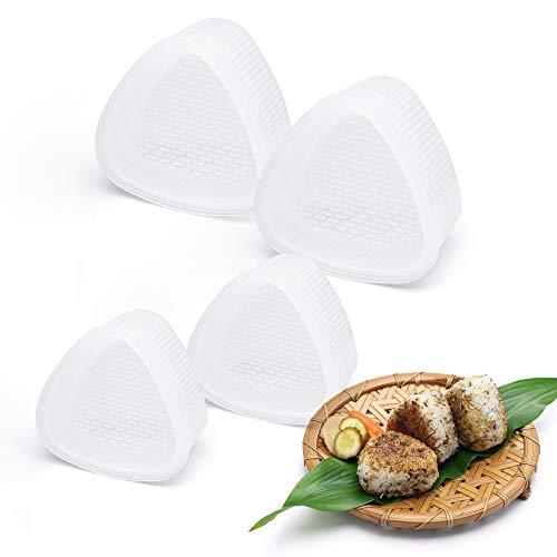 4 Moldes Para Sushi, Triángulo Onigiri Molde De Plástico Para Hacer Bolas De Arroz, Superficie Antiadherente, Molde Para Prensas De Arroz, Para Restaurantes De Sushi/cocina Japonesa/cocina