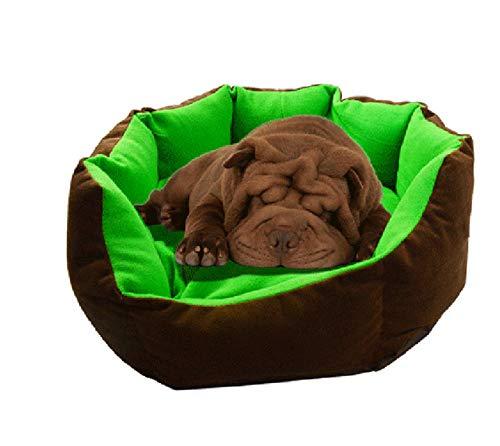 Hondenhok en Cathousepet Hondenkat Verwarming Bed Hondenhok Comfortabel Herfst Zacht Bed Kleine hondenmat Katoen Pet Puppies Nest Nest Mat 70X70 Cm