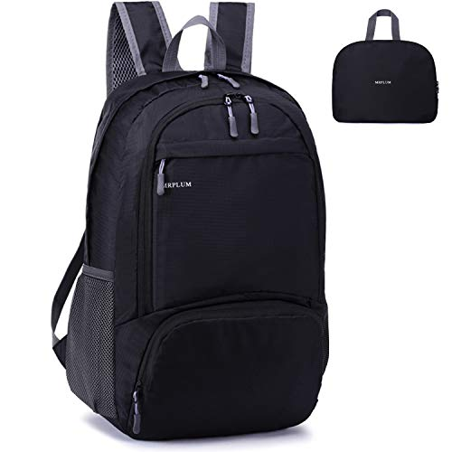 MRPLUM 25L-30L Rucksack Foldable Ultralight Packable Backpack, Unisex Durable Handy Daypack for Travel &...