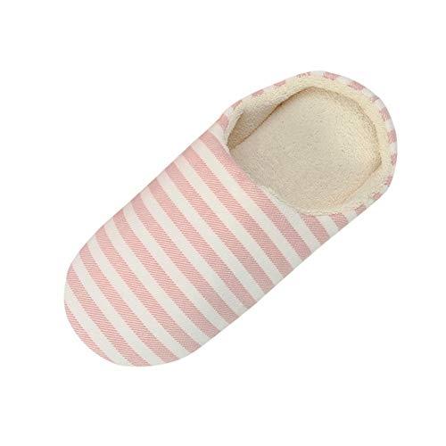 Fannyfuny Zapatillas de Casa Mujer Zapatos Mulas Interior Cómodo Suela Estable Antideslizante Pantuflas Suaves Elegantes sin Ruido Transpirables para Primavera Otoño Invierno
